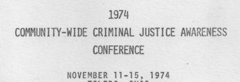 1974: Criminal Justice Workshop